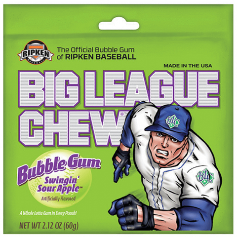 Big League Chew - Sour Apple - Plus Candy