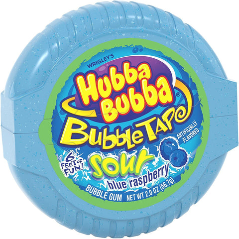 Hubba Bubba Sour Tape - Blue Raspberry - Plus Candy