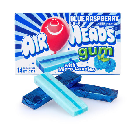 Airheads Gum - Blue Raspberry - Plus Candy