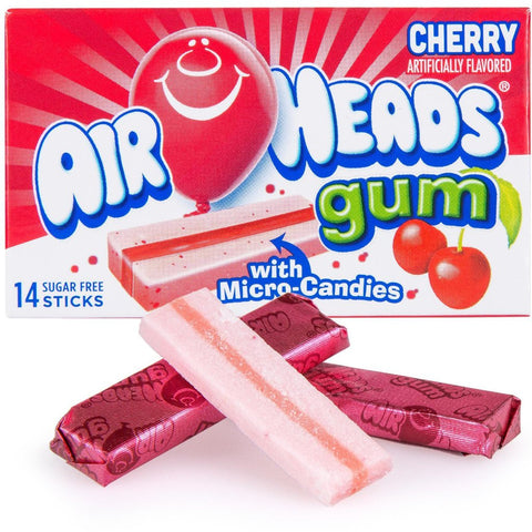 Airheads Gum - Cherry - Plus Candy