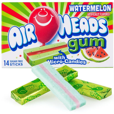 Airheads Gum - Watermelon - Plus Candy