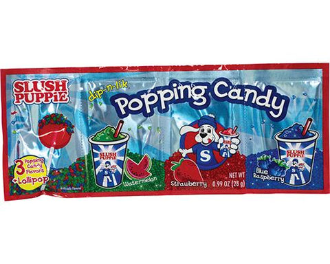 Slush Puppie Popping Candy & Lollipop