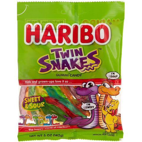 Haribo Bag Twin Snakes Sweet & Sour  [142g] - USA