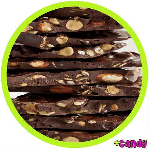 Almond Bark Dark Chocolate [500g] - Plus Candy