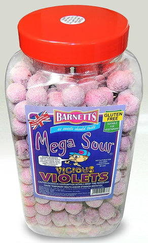 Barnetts Mega Sour - Violets (UK) [100g]