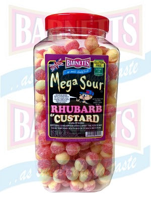 Barnetts Mega Sour - Rhubarb Custard (UK) [100g]
