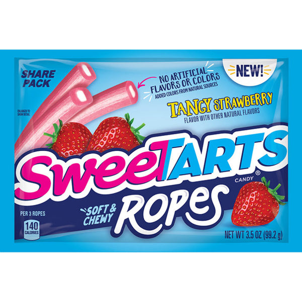 Sweetarts Chewy Ropes Tangy Strawberry Share Pack