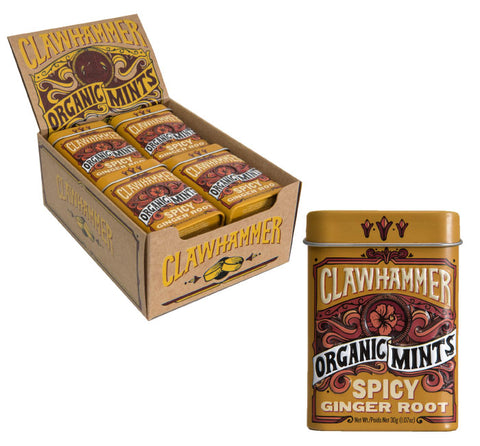 Clawhammer Organic Mints - Spicy Ginger Root