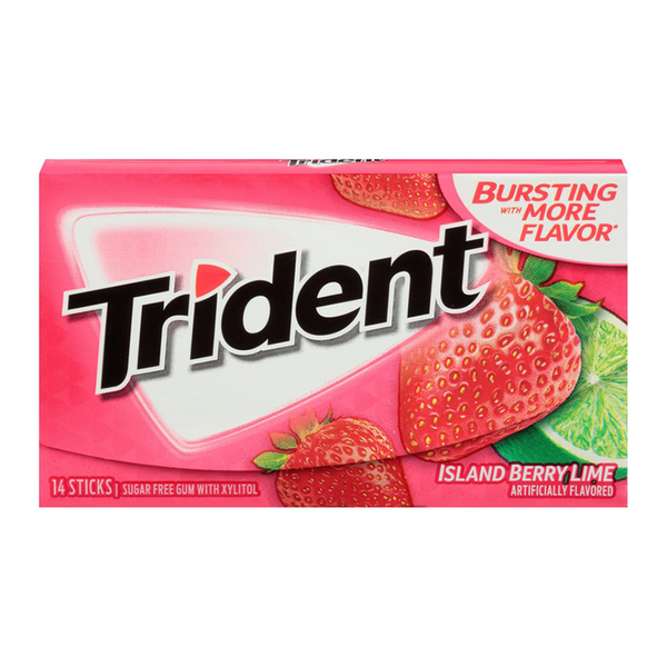 Trident singles Island Berry Lime [14pc]