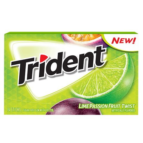 Trident singles Lime Passionfruit Twist [14pc]