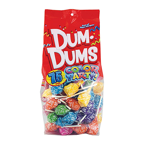 Dum Dum Color Party Bag Rainbow