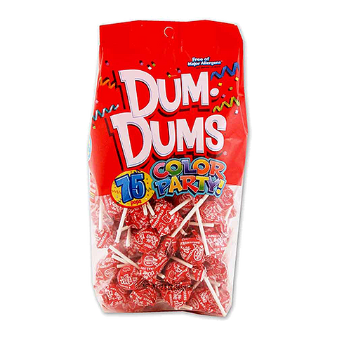 Dum Dum Color Party Bag Red Strawberry