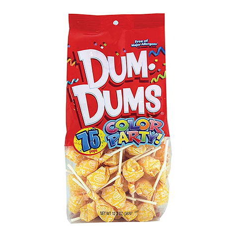 Dum Dum Color Party Bag Yellow Cream Soda