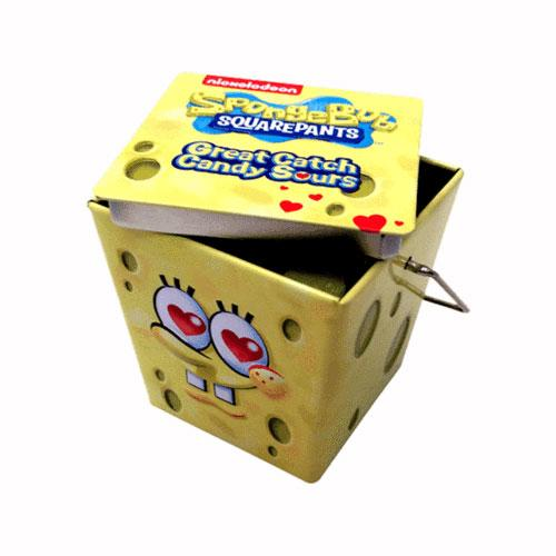 SpongeBob Great Catch Heart Sours Candy Tin