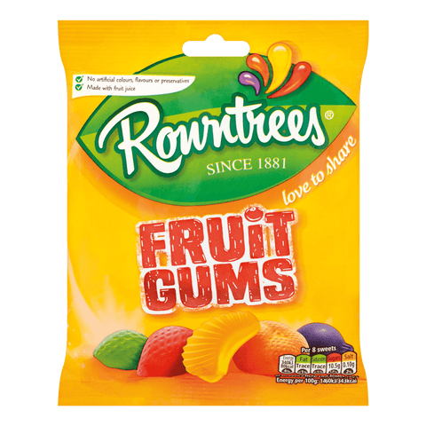 Rowntrees Fruit Gums - Plus Candy