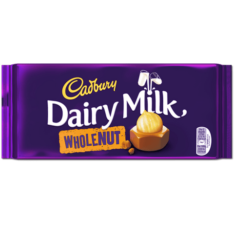 Cadbury Dairy Milk - Whole Nut - Plus Candy
