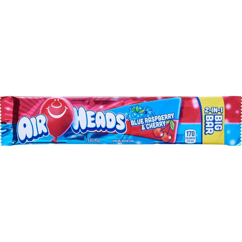 Airheads Big Bar - Blue Raspberry & Cherry - Plus Candy