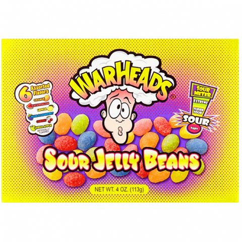 Warheads Jelly Beans Theater Box