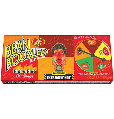 Jelly Belly Bean Boozled Fiery Five Challenge Box