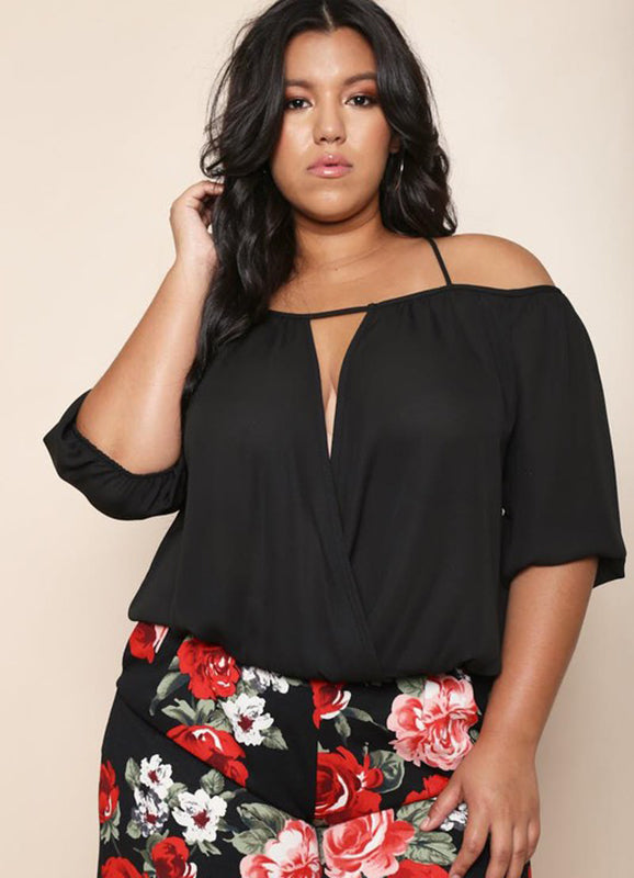 Plus Size Criss Crossed Back Top