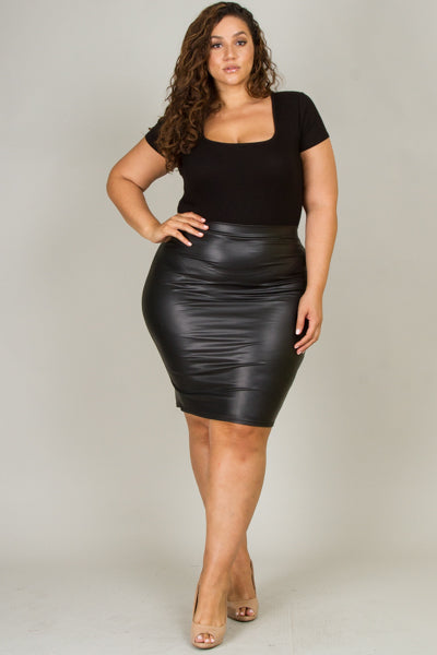 Not Ur Avg Chic - Maxine Faux Leather Skirt