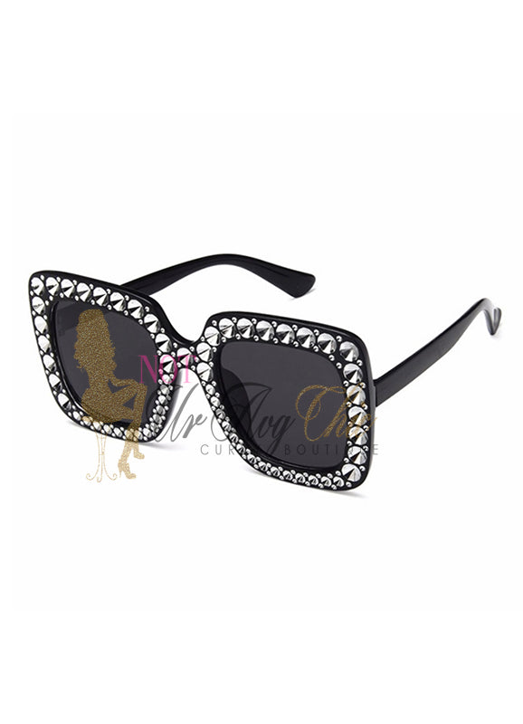 Rhinestone Studded Sunglasses | Angie | Not Ur Avg Chic Boutique