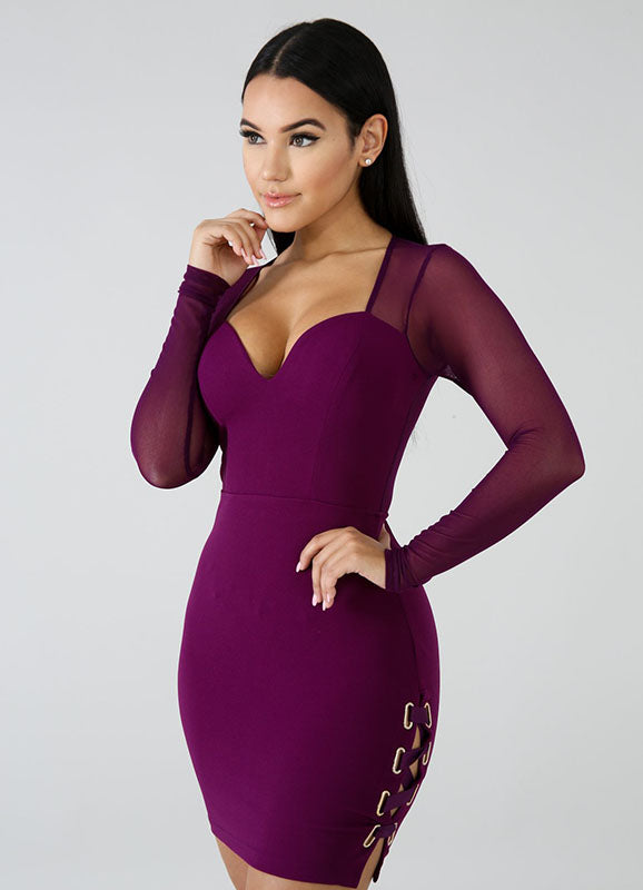 Purple Mini Dress | Brooke | Not Ur Avg Chic Boutique