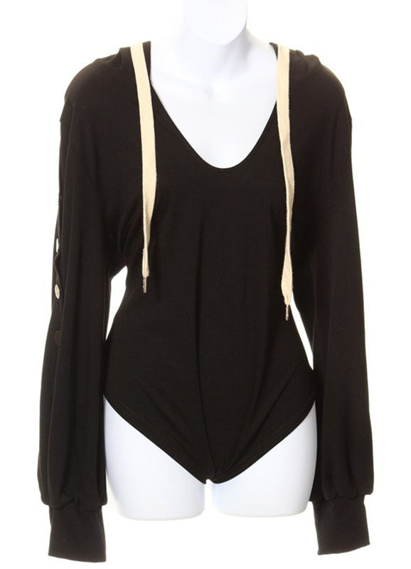 Black Hoodie Bodysuit | Emery | Not Ur Avg Chic Boutique