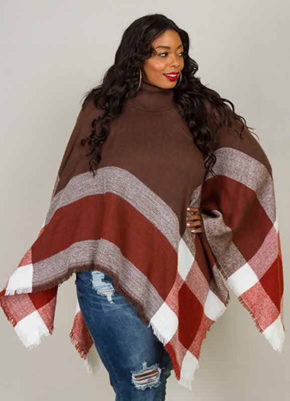 Curvy Cow Neck Poncho | Not Ur Avg Chic Boutique