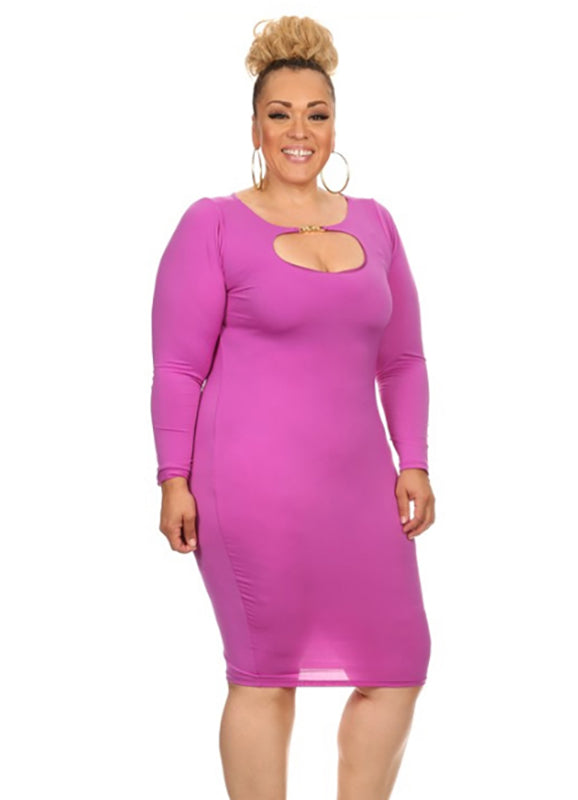 Plus Size Dana Keyhole Dress