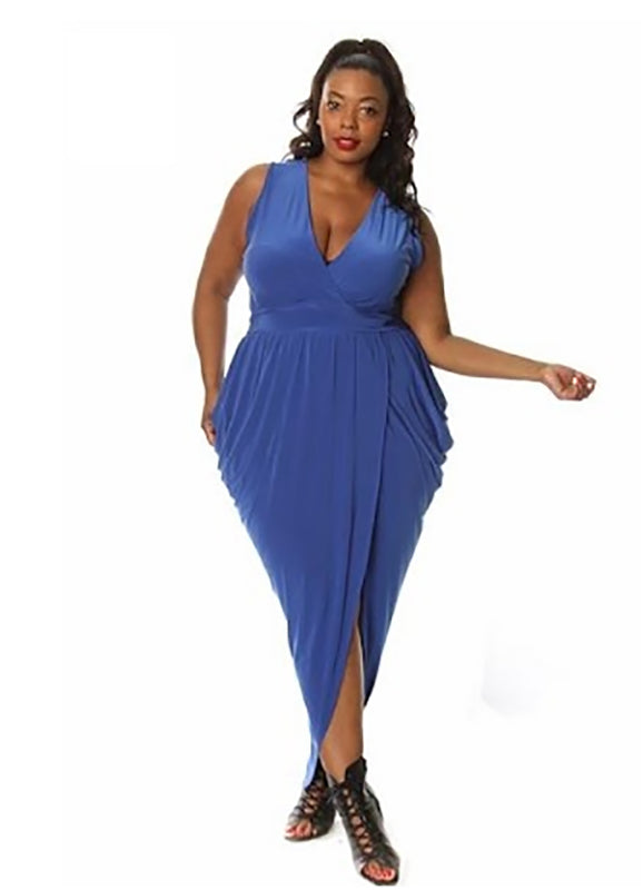 Plus Size Jordyn Drape Maxi Dress