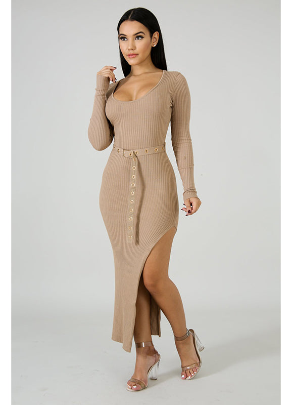 Knit Slit Dress | Jorja | Not Ur Avg Chic Boutique