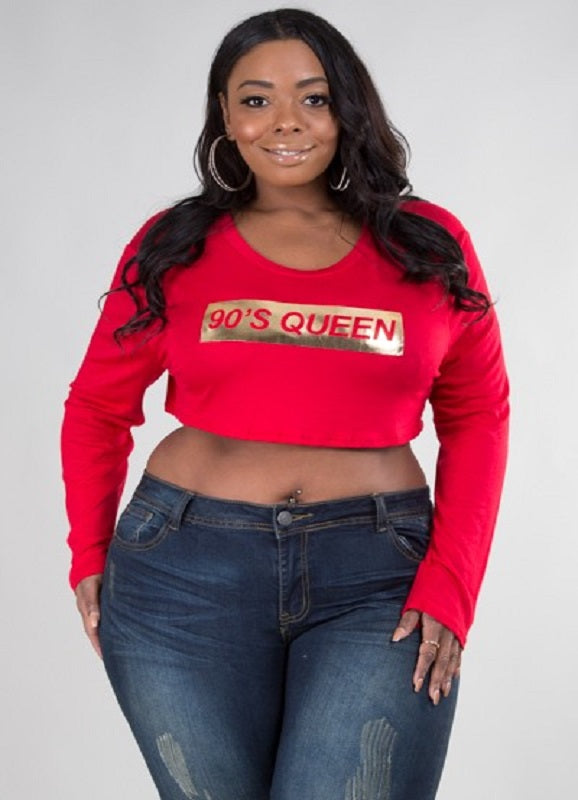 Not Ur Avg Curvy | Livia 90's Queen Crop Top | Not Ur Avg Chic Boutique