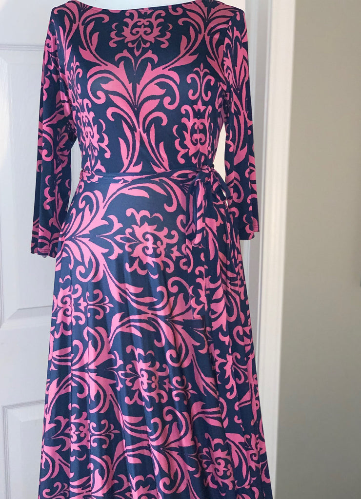Pink/Blue Maxi Dress  Size: 1X