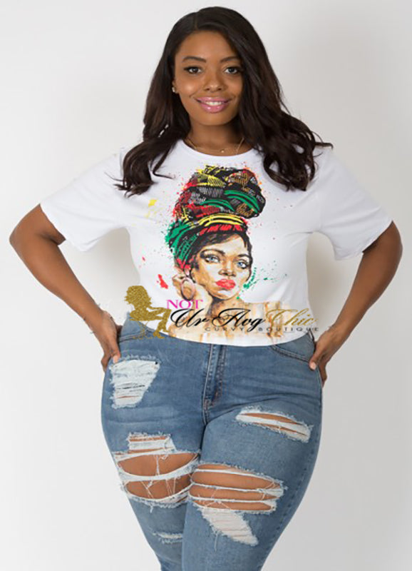 Plus Size Crop Top | Queen | Not Ur Avg Chic Boutique