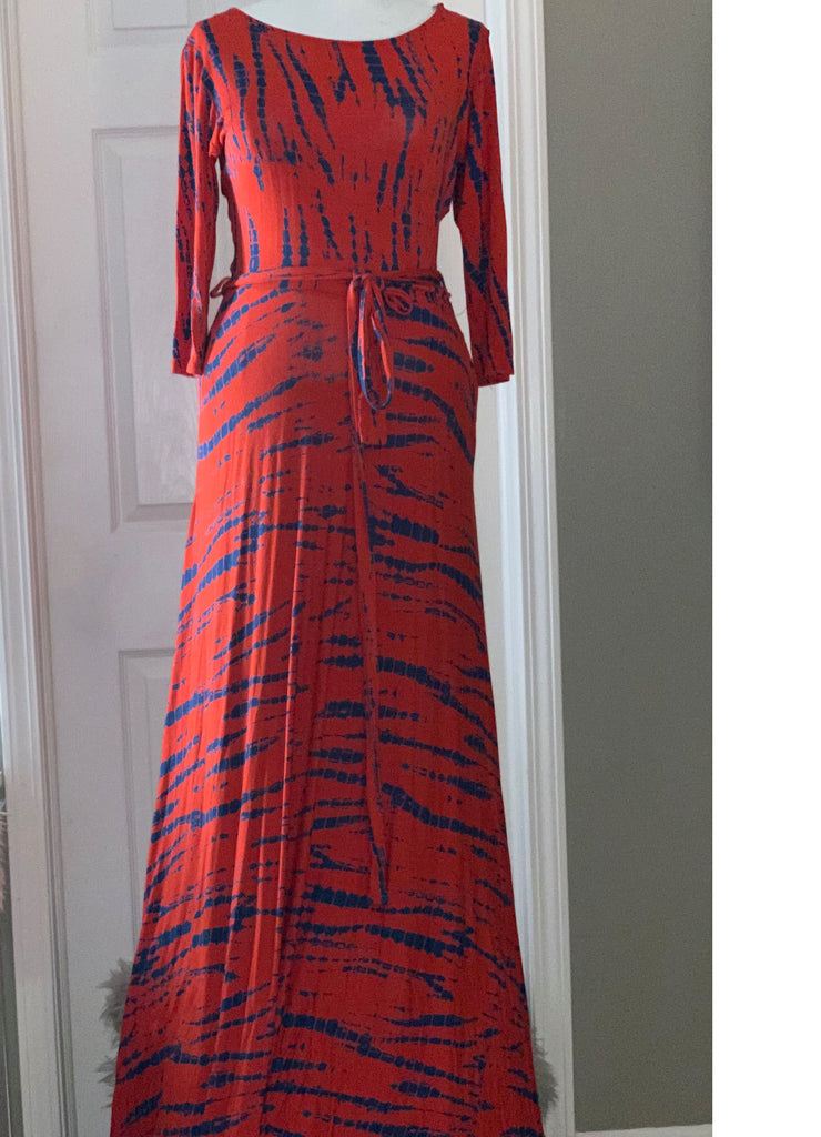 Tie Dye Maxi Dress - Size: 2X