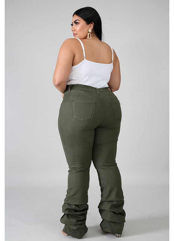 Plus Size Jeans | Anastasia | Not Ur Avg Chic Boutique - Olive Color
