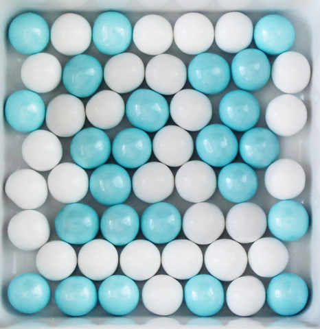 BLUE & WHITE PEARLS - Candy Fix