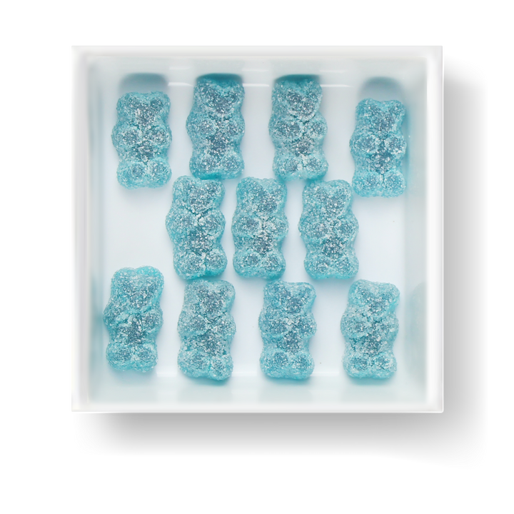 SOUR BLUE RASPBERRY GUMMY BEARS