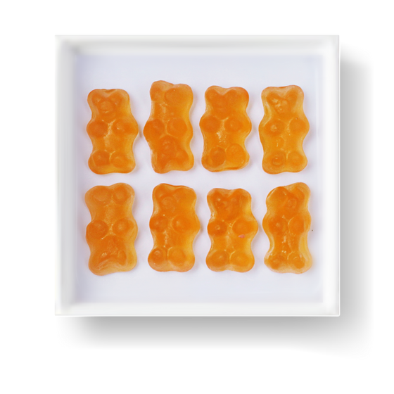 CHAMPAGNE GUMMY BEARS GOURMET CANDY CUBE