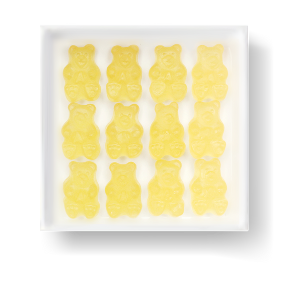 GLUTEN FREE MSG FREE FAT FREE DAIRY FREE PINEAPPLE GUMMY BEARS CANDY CUBE