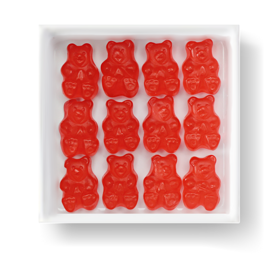 GLUTEN FREE MSG FREE FAT FREE DAIRY FREE STRAWBERRY GUMMY BEARS CANDY