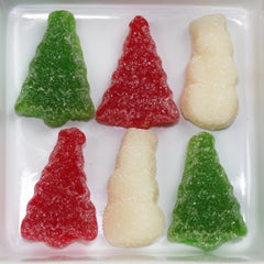 CHRISTMAS TREE AND SNOWMAN GUMMIES
