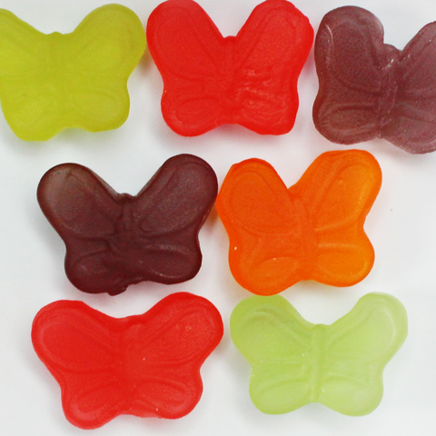 GLUTEN FREE MSG FREE FAT FREE DAIRY FREE SUGAR FREE BUTTERFLY CANDY