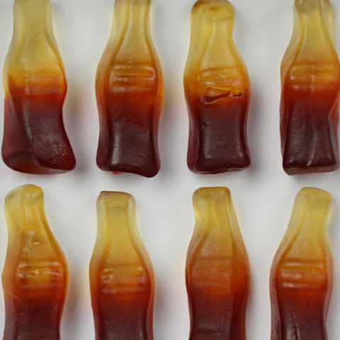 HALAL COLA GUMMY BOTTLES CANDY CUBE