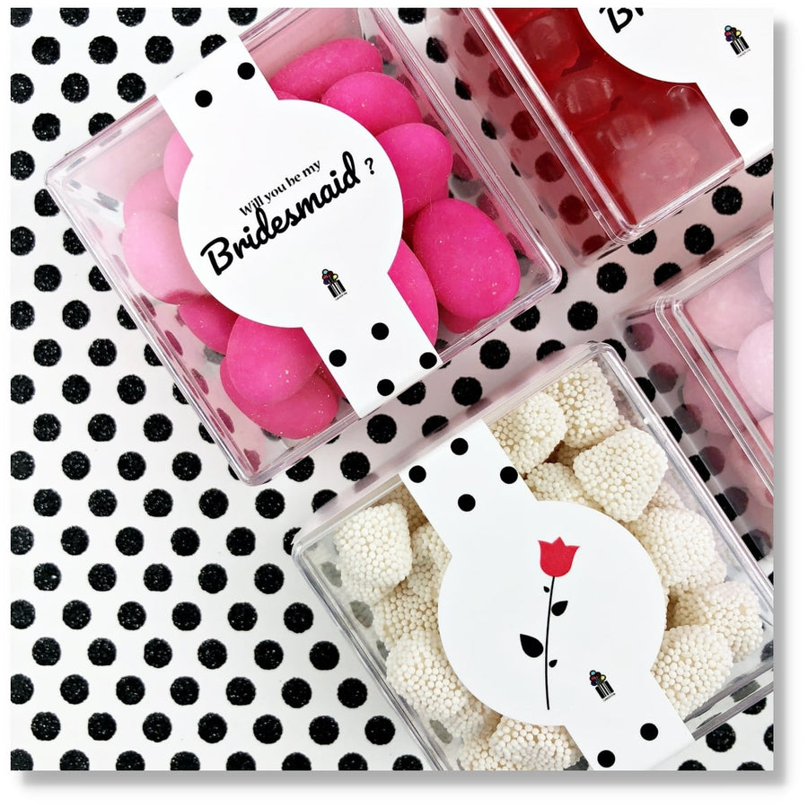 BRIDESMAID GIFT CANDY BOX CANDY CUBE