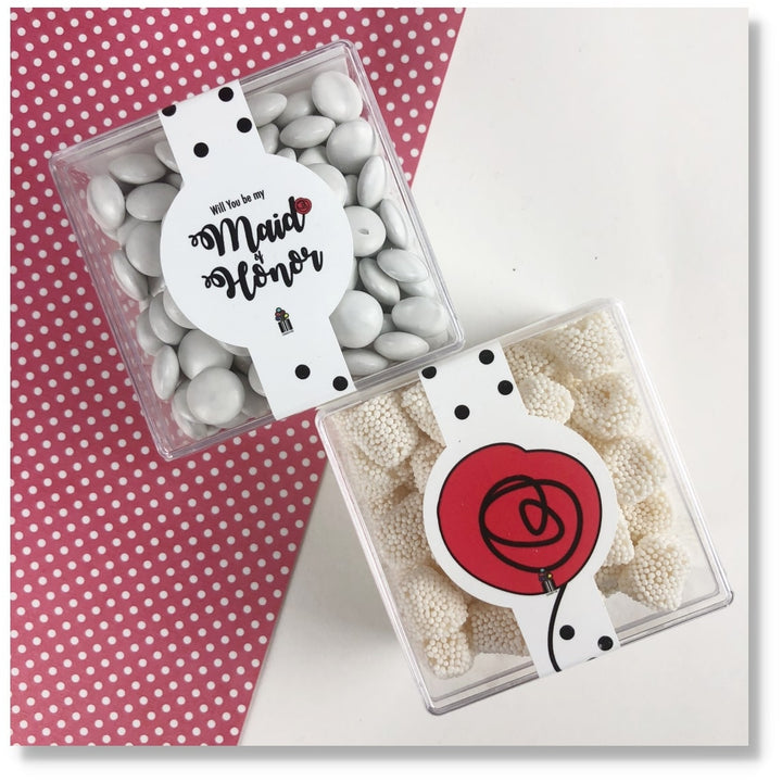 MAID OF HONOR GIFT WEDDING GIFT CANDY BOX CANDY CUBES