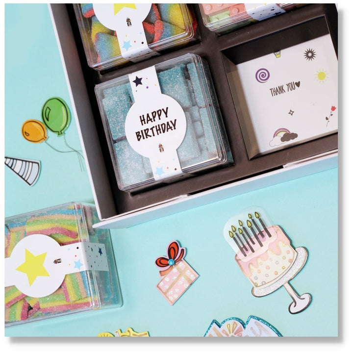 BIRTHDAY GIFT CANDY BOX CANDY CUBES
