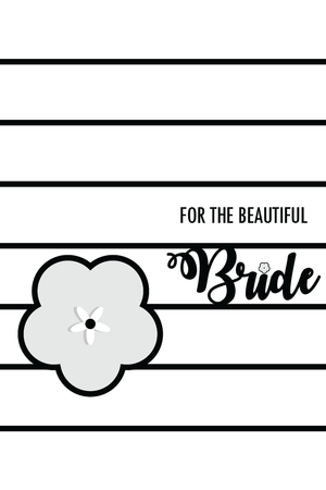PERSONALIZE GIFT BRIDAL CARD