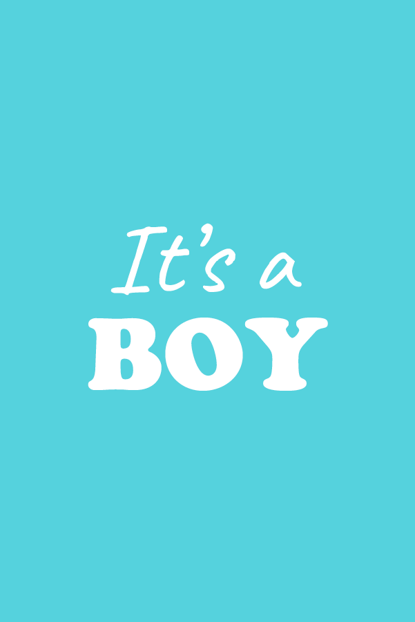 it's a boy - 2 cubes
